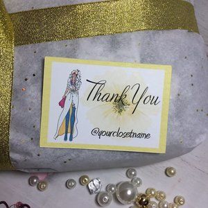 Unbranded Office - 100 poshmark Customer Thank YOU PACKAGING CARDS